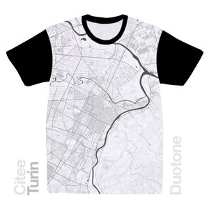 Image of Turin map t-shirt