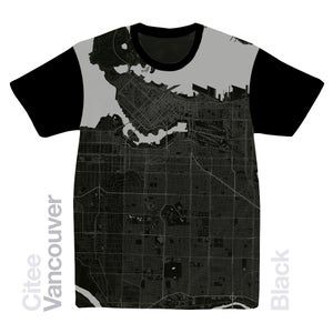 Image of Vancouver map t-shirt
