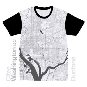 Image of Washington DC map t-shirt