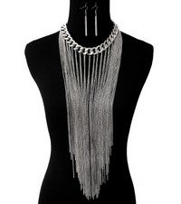 Image of WATERFALL BIB NECKLACE SET