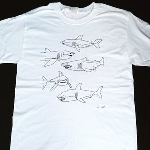 Image of 5 sharks shirt- big print