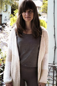 Image of Gossamer Open Cardigan - a pure pima cotton sweater for Spring