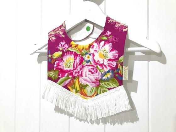 Image of Boho Tassel Bib - Magenta Floral