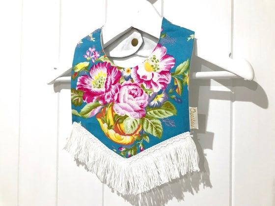 Image of Boho Tassel Bib - Ocean floral