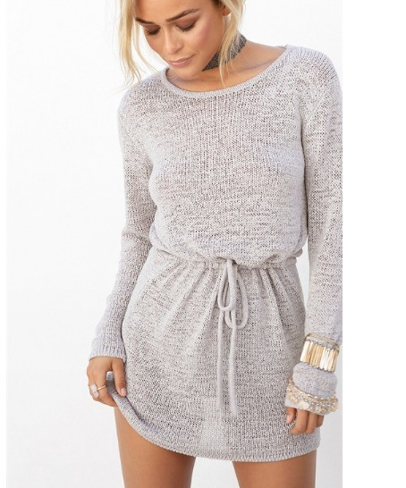 Image of Leisure - back knit sweater dress