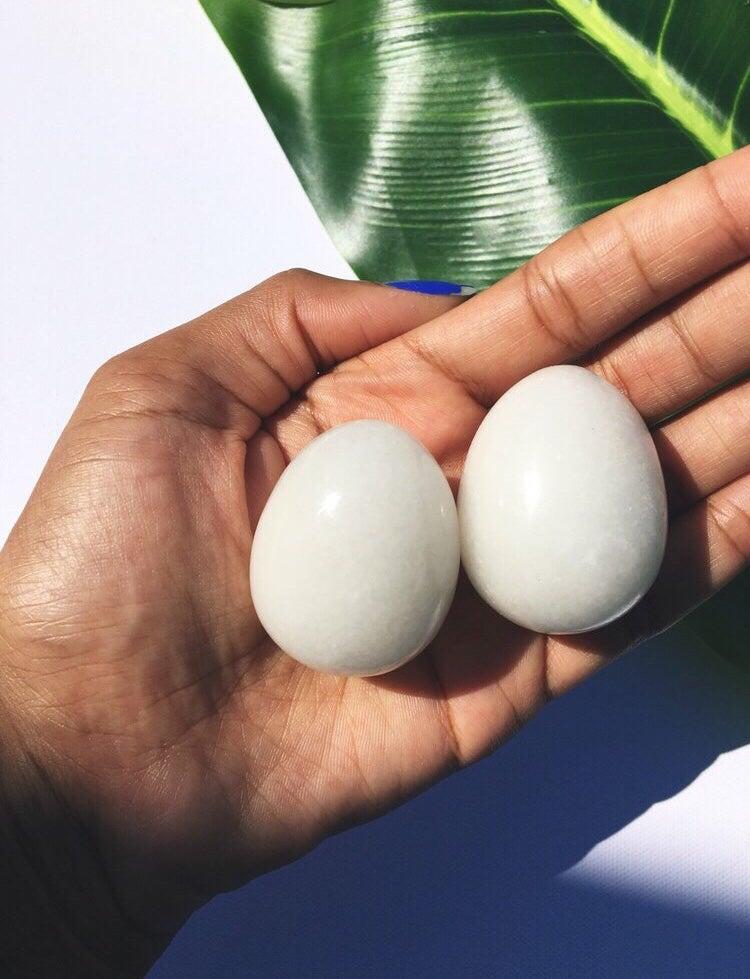 Image of YONI EGGS :: White Jade :: Large
