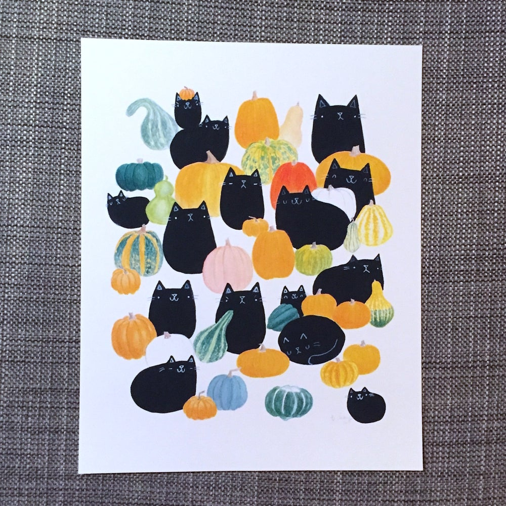 Image of pumpkat print