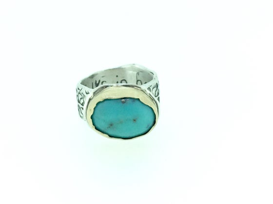 Image of Walk in Beauty turquoise ring