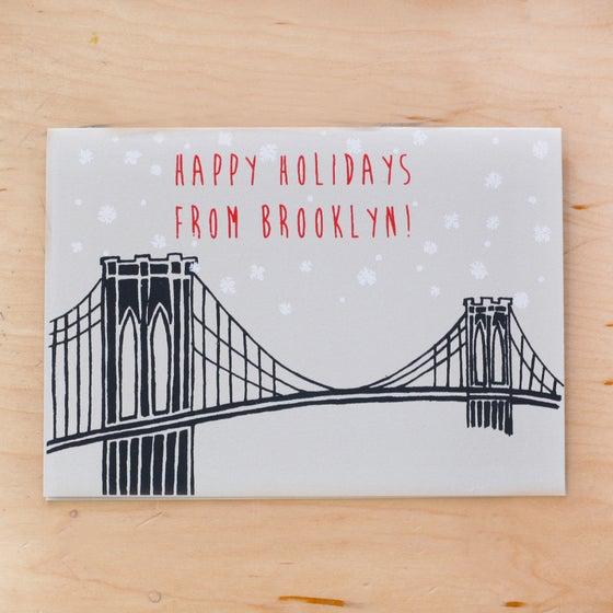 Image of Holiday Brooklyn Bridge