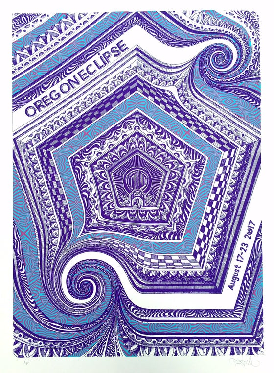 Image of symbiosis oregon eclipse poster