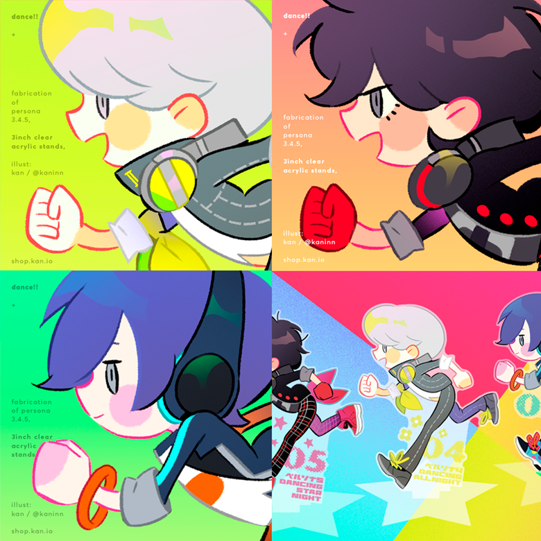 Image of Dance!! acrylic stand - persona5 / persona4 / persona3