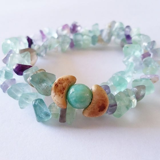 Image of Fluorite and moon