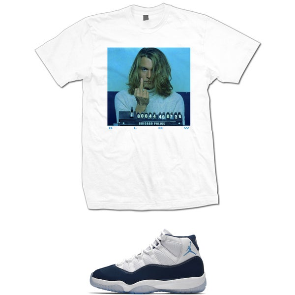 Image of BLOW RETRO 11 WIN LIKE 82 T SHIRT - WHITE