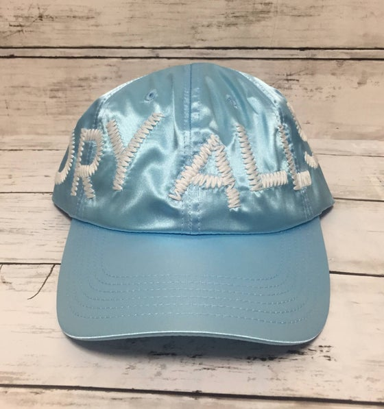 "Image of CPFM x Human Made ""Dry Alls"" Japan Exclusive Cap Blue"