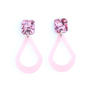 Image of Raindrop Earrings - Pink