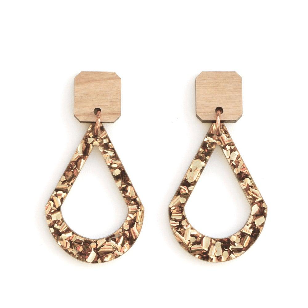 Image of Raindrop Earrings - Bronze