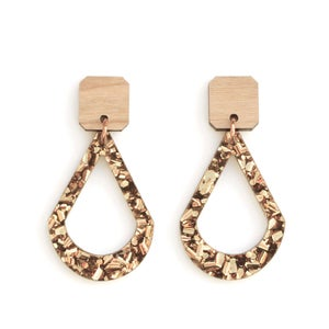 Image of Raindrop Earrings - Bronze