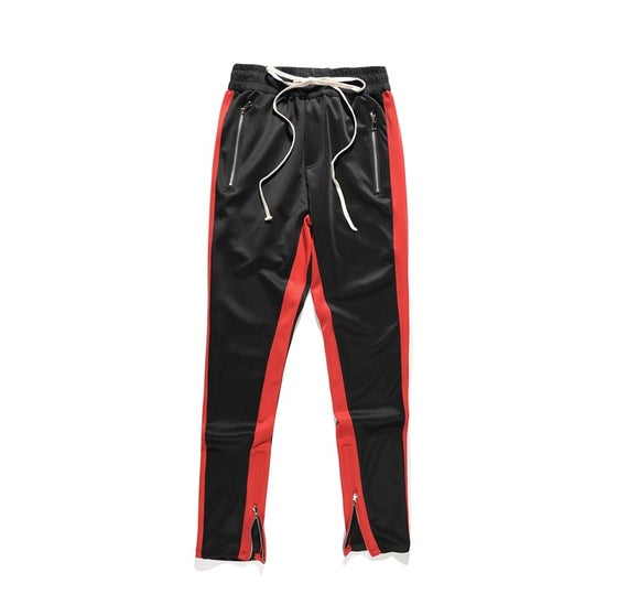 Image of Night Grind black / Red striped track pants