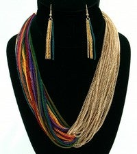 Image of COLOR CHAIN NECKLACE SETS