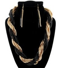 Image of BRAIDED LINK NECKLACE SET