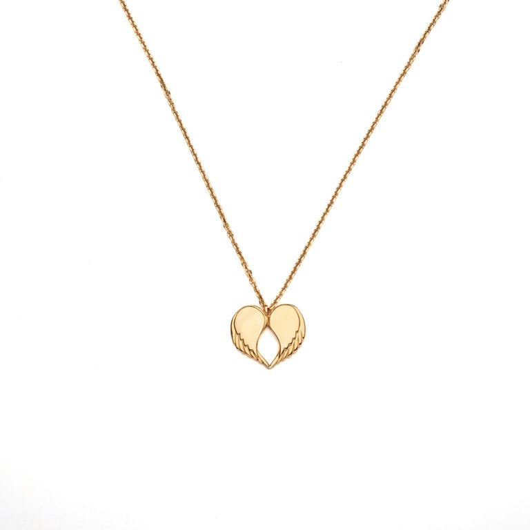 """Image of Angel Love Pendant - SHORT 18ct Yellow Gold Plated 18"""" Chain"""
