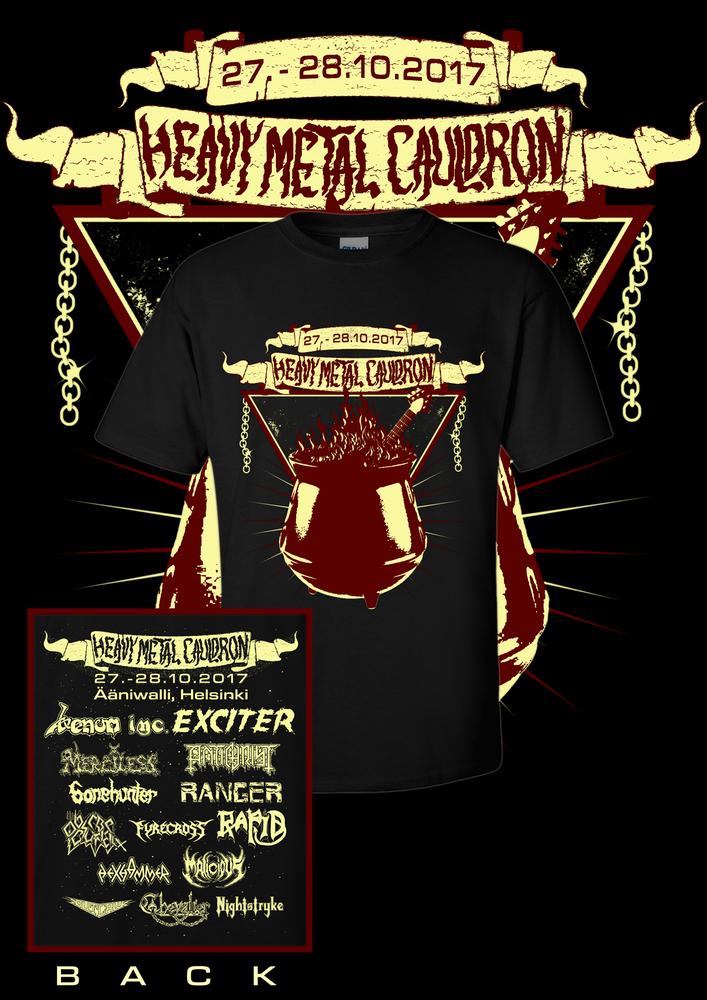 Image of Heavy Metal Cauldron 2017 T-Shirt