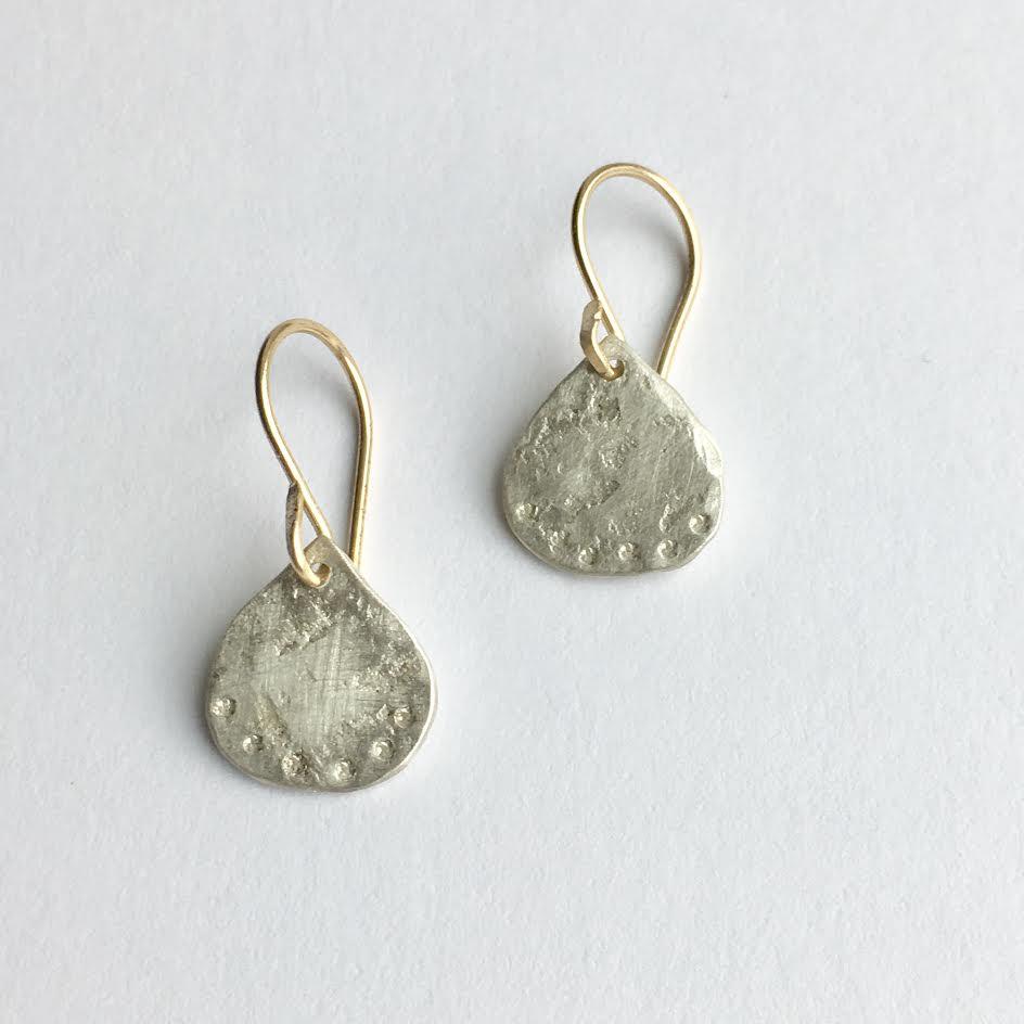 Image of Weathered drop earrings