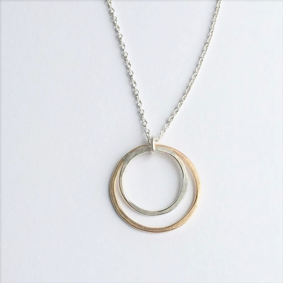 Image of mixed metal necklace