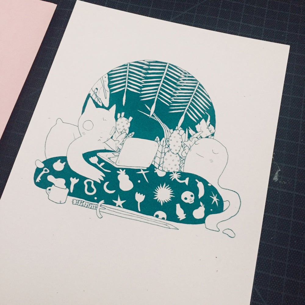 Image of In Bed Print
