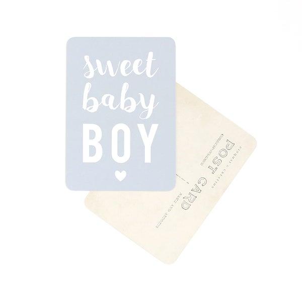 Image of Carte Postale SWEET BABY BOY