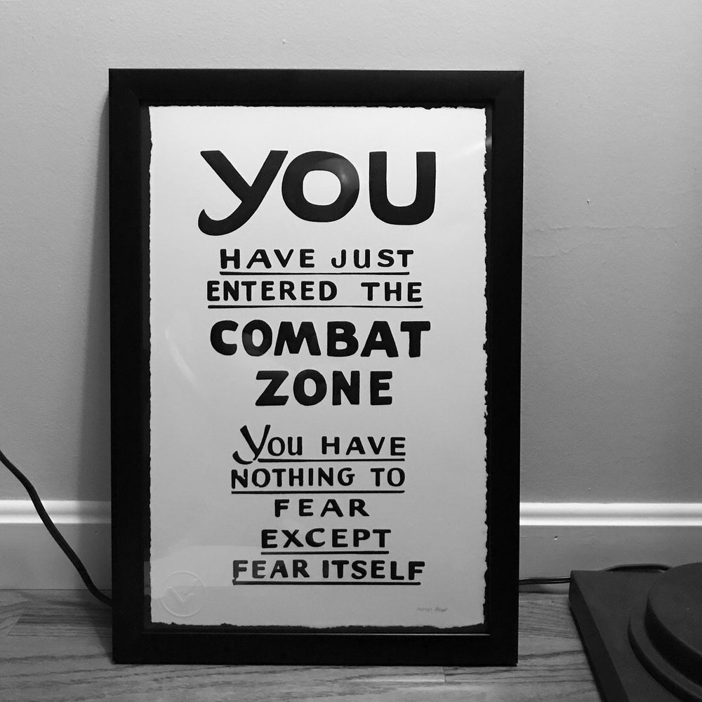 Image of Combat Zone Serigraph