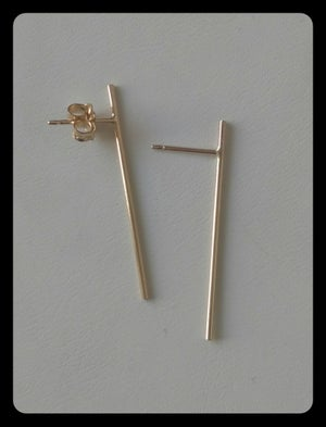 Image of thin stick earrings