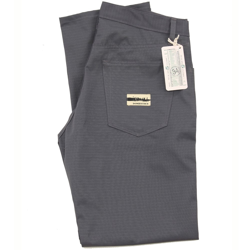 Image of MADE IN USA DOMEstics. Grey Rip Stop Pants