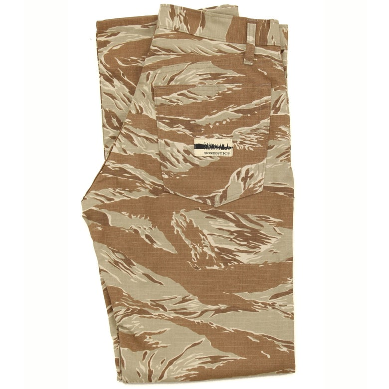 Image of MADE IN USA DOMEstics. Tiger Stripe Camo Tan Pants
