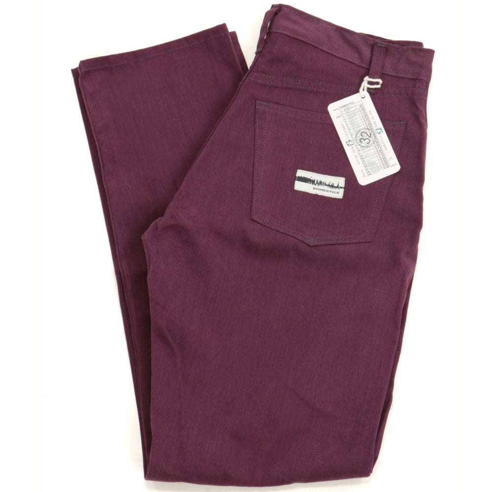Image of MADE IN USA DOMEstics. Wine Midweight Pants