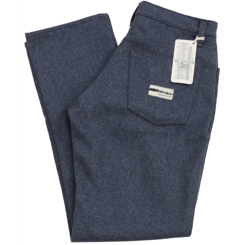 Image of MADE IN USA DOMEStics. Blue Wool Pants