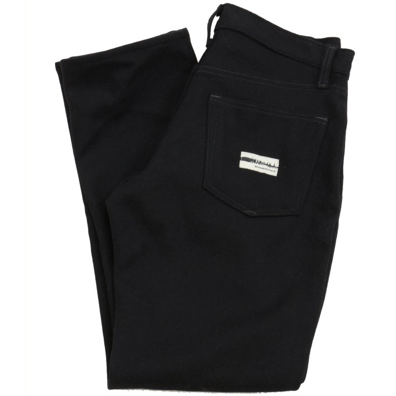 Image of MADE IN USA DOMEstics. Black Wool Pants