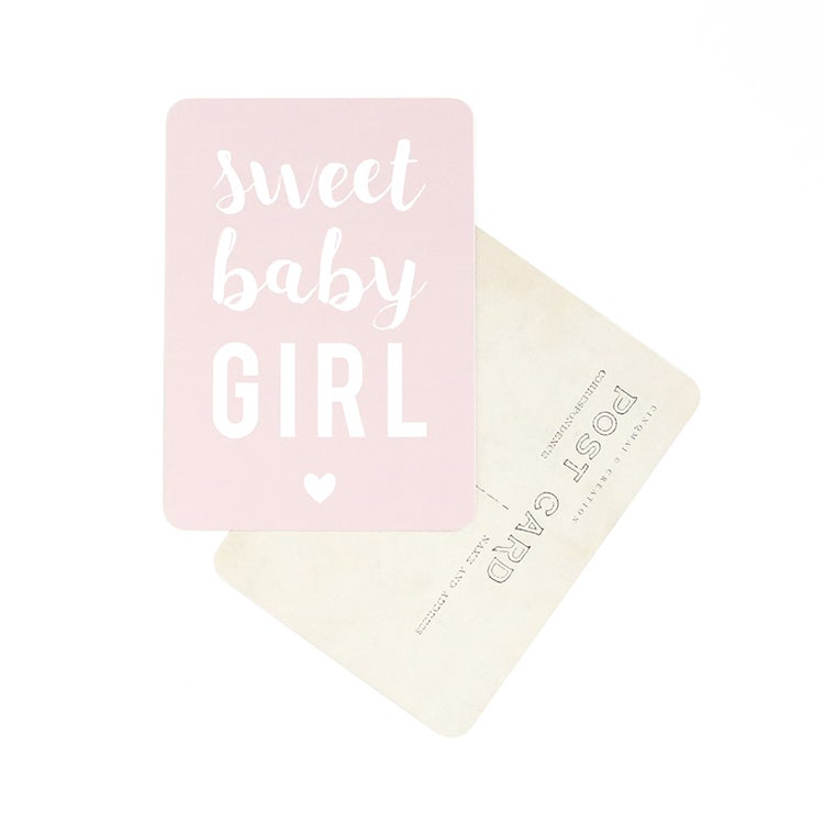 Image of Carte Postale SWEET BABY GIRL