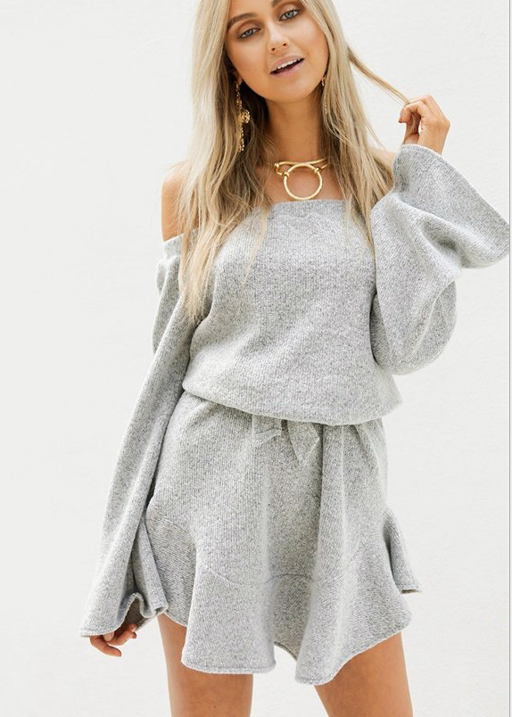Image of Hot style strapless knit dress