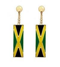 Image of JAMAICA FLAG EARRINGS