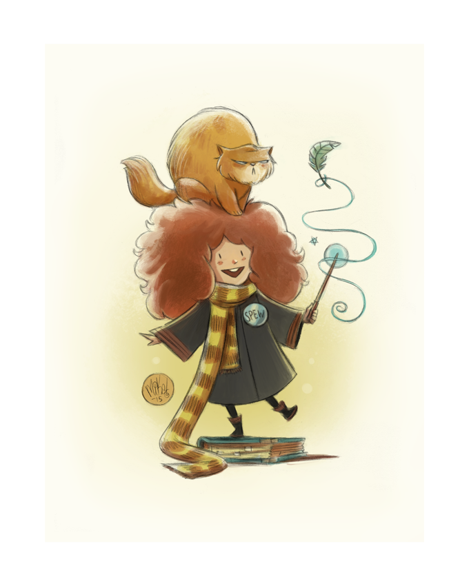 Image of Hermione & Crookshanks