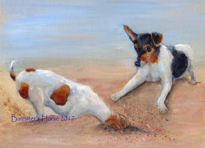 Image of 'DOUBLE TROUBLE' Jack Russell Terriers, Fine Art Prints