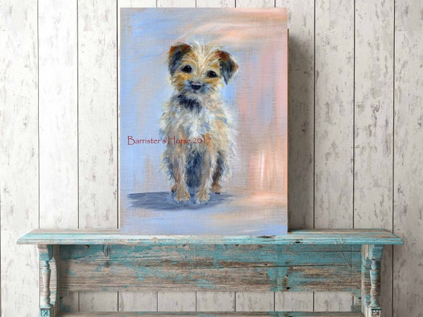 Image of BORDER TERRIER Fine Art Print