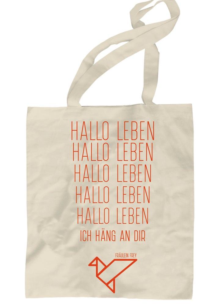 "Image of Jutebeutel ""Hallo Leben"""