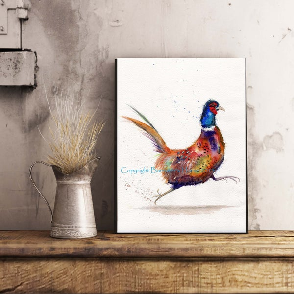 Image of RUNNING PHEASANT, FINE ART PRINTS