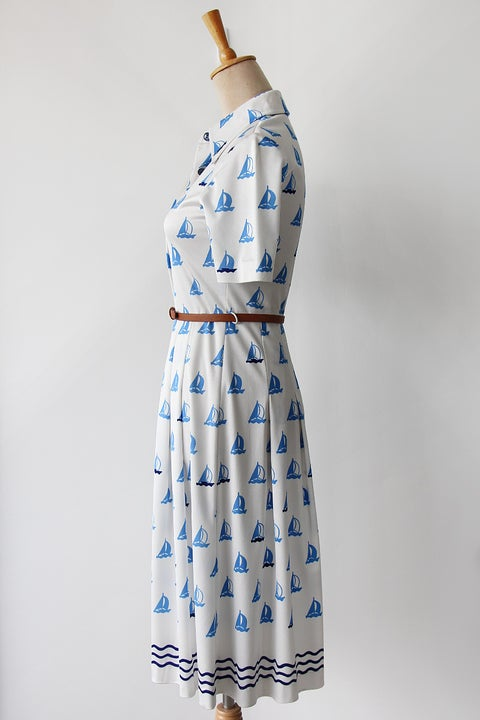 Image of SOLD Sailing Boats Dress