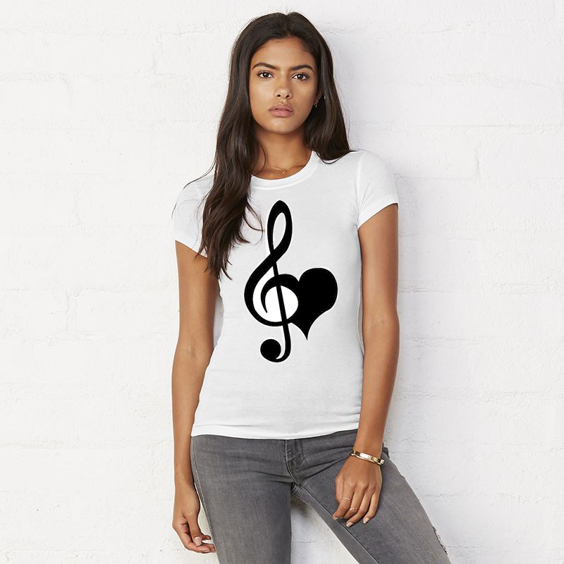 Image of USH LOVE & MUSIC T-SHIRT