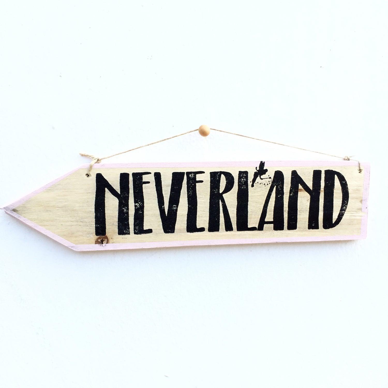 Image of Cartel flecha Neverland