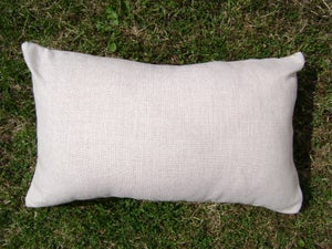 """Image of HORSE RACING LINEN/CANVAS BLEND CUSHION COVER 20"""" x 12"""""""