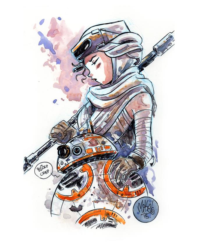 Image of Rey & BB-8